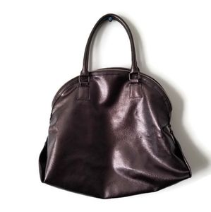 Lancome Bag Faux Leather Metallic brown